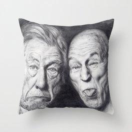 Patrick Stewart & Ian McKellen Throw Pillow