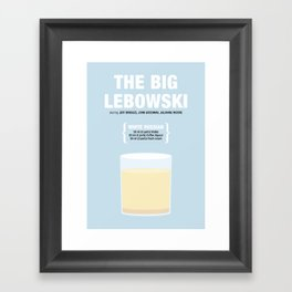 THE BIG LEBOWSKI _MOVIE COCKTAIL_ Coen Brothers Framed Art Print