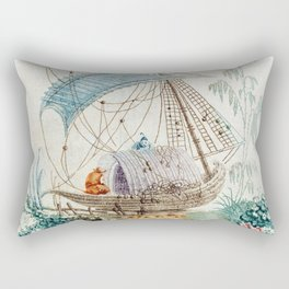 Chinoiserie Embroidery Rectangular Pillow