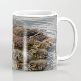 Mother duck & ducklings Coffee Mug