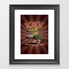 I (HEART) MONSTER HERO Framed Art Print