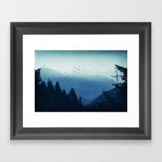 Blue Valmalenco - Alps at sunrise Framed Art Print