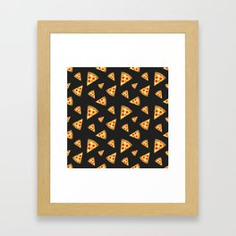 Cool and fun pizza slices pattern Framed Art Print
