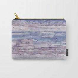 Blue lilac marble Carry-All Pouch