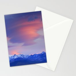 Lenticular clouds over Sierra Nevada National Park Stationery Cards