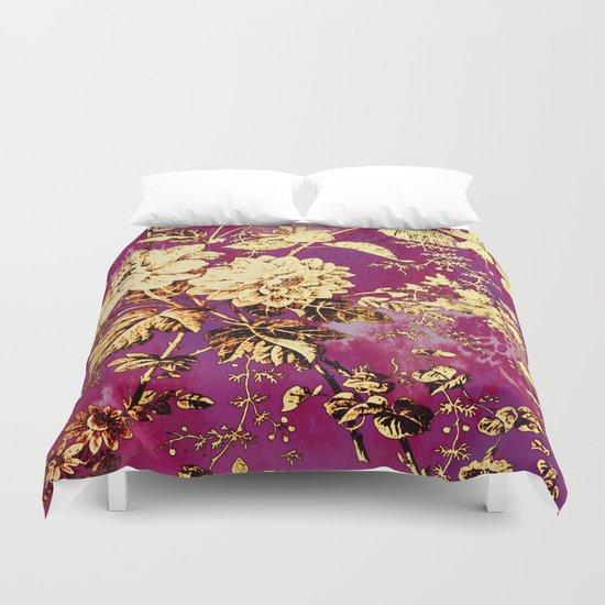 rich floral Duvet Cover