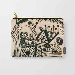 Design with black ink #1 Carry-All Pouch