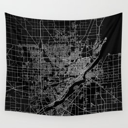 Toledo map ohio Wall Tapestry