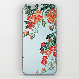 Red Trumpet Flowers iPhone Skin