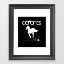Deftone White Pony Framed Art Print