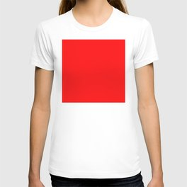 The Future Is Bright Red  - Solid Color T-shirt