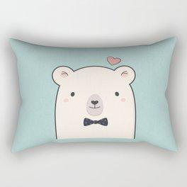 Kawaii Cute Polar Bear Rectangular Pillow