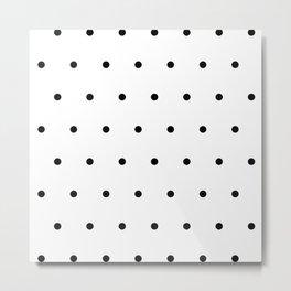 Black and white Polka Dots Pattern Metal Print