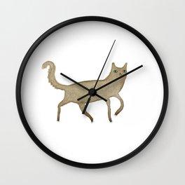 Suspicious-Looking Moggy Wall Clock