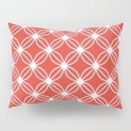 Abstract Circle Dots Red Pillow Sham