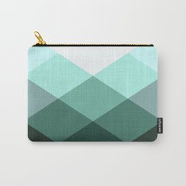 Teal Green Oxford Print Carry-All Pouch