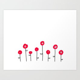 red buds Art Print