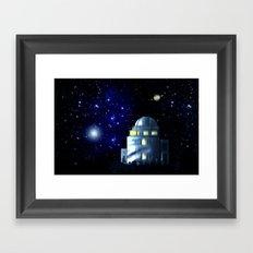 Where the stars shine. Framed Art Print