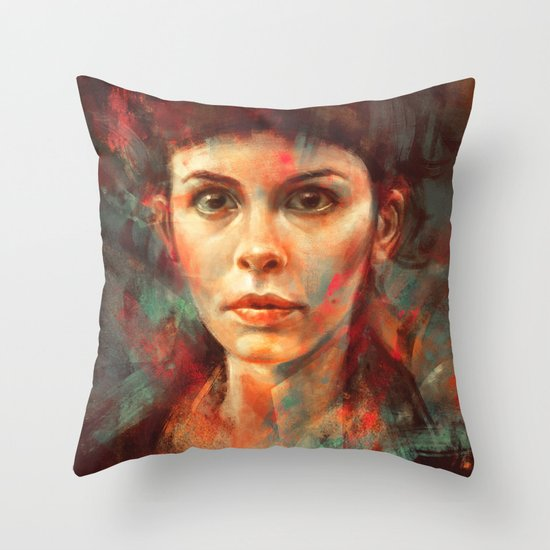 She was always a lonely child. Throw Pillow