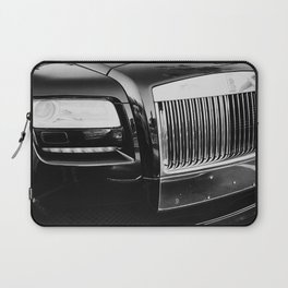 Rolls Grille // Black Luxury Car Close Up Photography Expensive Ultra Wealthy Autos Laptop Sleeve