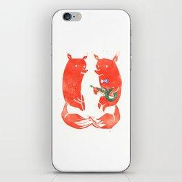 Mister Fox in love iPhone Skin