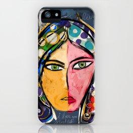 Portrait of a mystique girl iPhone Case