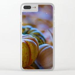 Pumpkin Paradise (Color) Clear iPhone Case