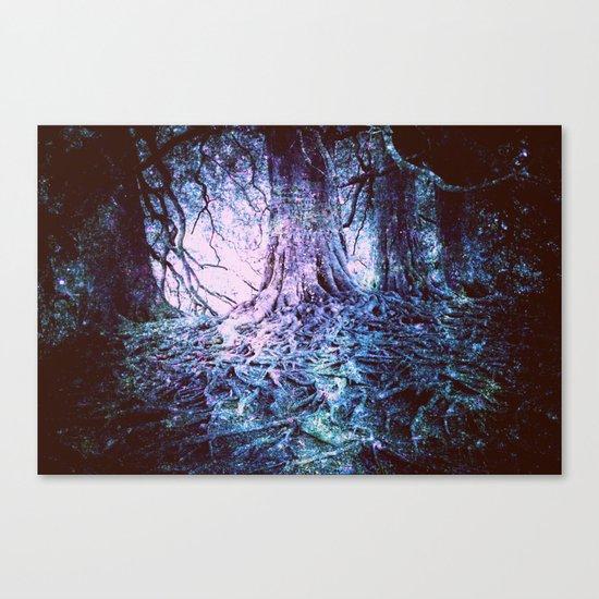 The Wishing Tree : Aqua Lavender Canvas Print
