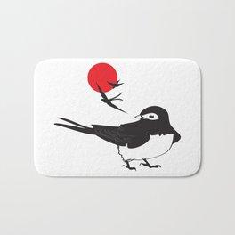 swallows at sunrise Bath Mat