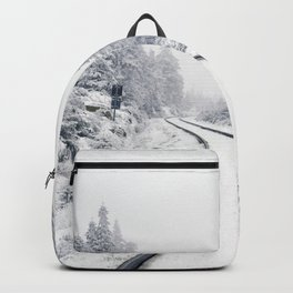 Snowy Train Tracks (Color) Backpack