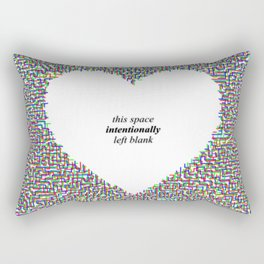 This Space Intentionally Left Blank Rectangular Pillow