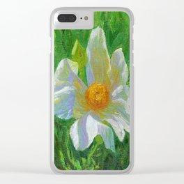 Matilija Poppies Clear iPhone Case