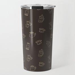Coffee Brewing Dark Travel Mug