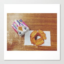 Milk & Doughnut at Cottage Bakery and Delicatessen in Long Beach, WA Canvas Print