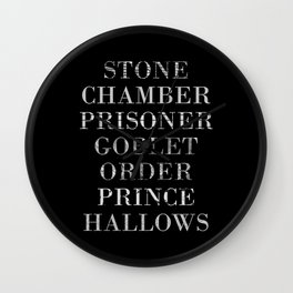 Titles with a Twist Wall Clock