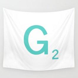 Aqua Letter G Custom Scrabble Wall Tapestry