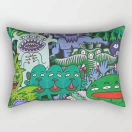 Monster Friends Rectangular Pillow