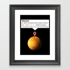 If Tatooine was just any place Framed Art Print