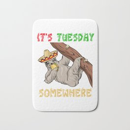 Tuesday Somewhere - Cinco De Mayo Sloth Bath Mat
