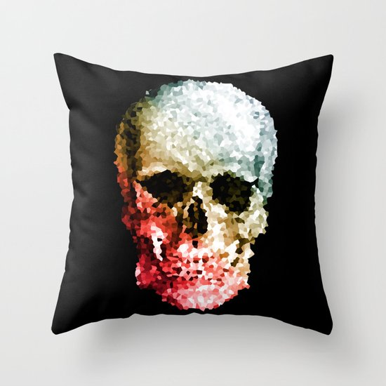 Skull Coloride Throw Pillow