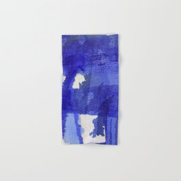 Blue abstract linen Hand & Bath Towel