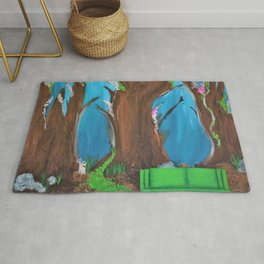 Fairy, Fairies. Abstract. Original Painting. Forest. Fantasy Forest. Fantasy. Jodilynpaintings. Rug