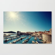 Old Town Harbor - Dubrovnik, Croatia Canvas Print