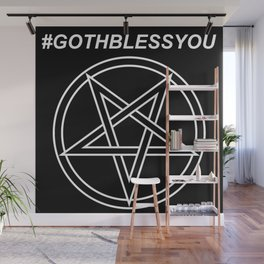 #GOTHBLESSYOU INVERTED Wall Mural