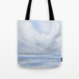 Unclear - Moody Gray Ocean Seascape Tote Bag