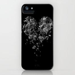smoke broken heart iPhone Case