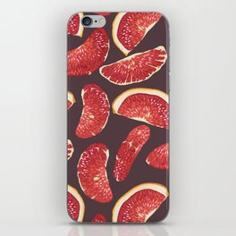 Grapefruit slices in realistic pattern iPhone Skin