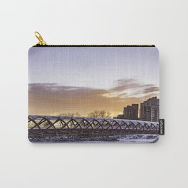 Calgary Peace Bridge at Sunrise Carry-All Pouch