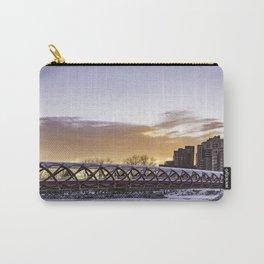 Calgary Peace Bridge at Sunrise Carry-All Pouch
