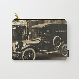 Vintage Police Car Carry-All Pouch